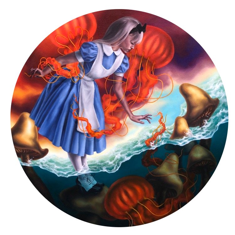 Global Warming in Wonderland, Oil Painting, Diana Ormanzhi