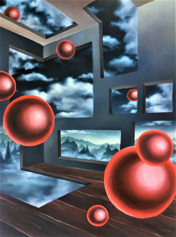 Room of Spheres, Oil Painting, Diana Ormanzhi